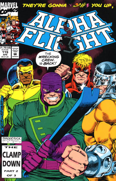 Cover for Alpha Flight (Marvel, 1983 series) #119