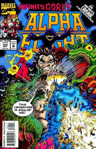 Cover for Alpha Flight (Marvel, 1983 series) #124