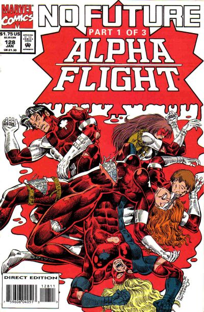 Cover for Alpha Flight (Marvel, 1983 series) #128