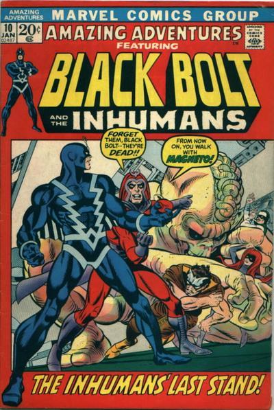 Cover for Amazing Adventures (Marvel, 1970 series) #10 [British]