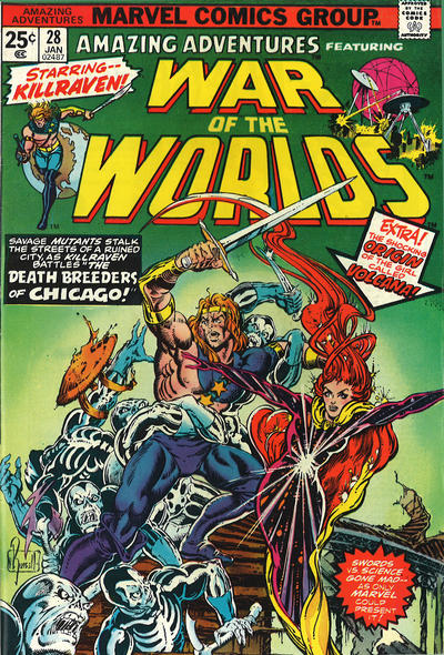 Cover for Amazing Adventures (Marvel, 1970 series) #28 [Regular Edition]