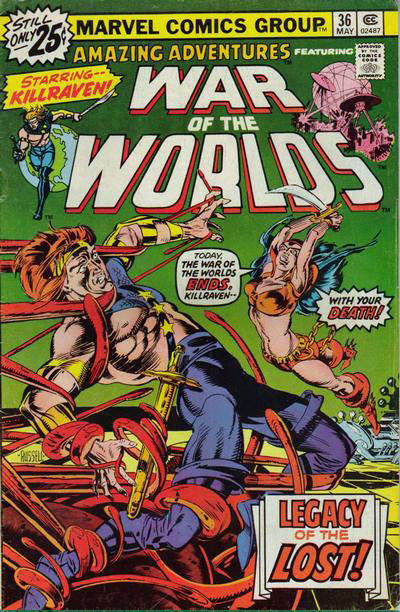 Cover for Amazing Adventures (Marvel, 1970 series) #36