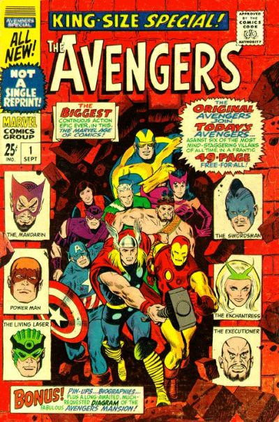 Cover for The Avengers Annual (Marvel, 1967 series) #1