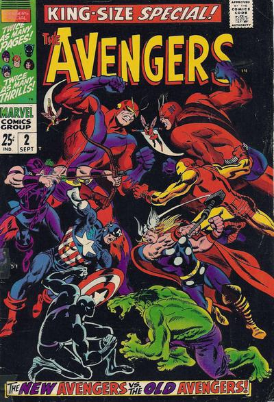 Cover for The Avengers Annual (Marvel, 1967 series) #2