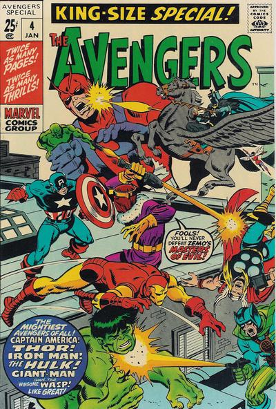 Cover for The Avengers Annual (Marvel, 1967 series) #4