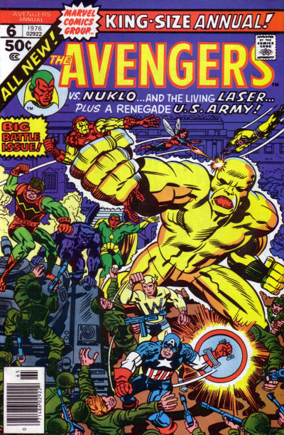 Cover for The Avengers Annual (Marvel, 1967 series) #6
