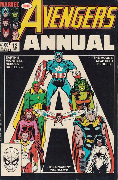 Cover for The Avengers Annual (Marvel, 1967 series) #12 [Direct Edition]