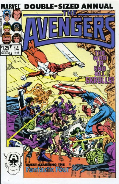 Cover for The Avengers Annual (Marvel, 1967 series) #14 [Direct Edition]