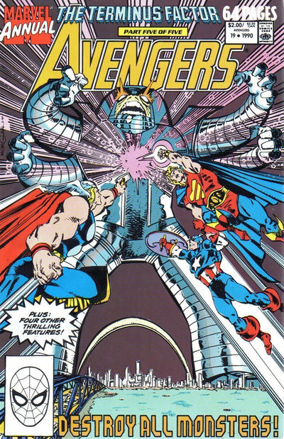 Cover for The Avengers Annual (Marvel, 1967 series) #19 [Direct Edition]