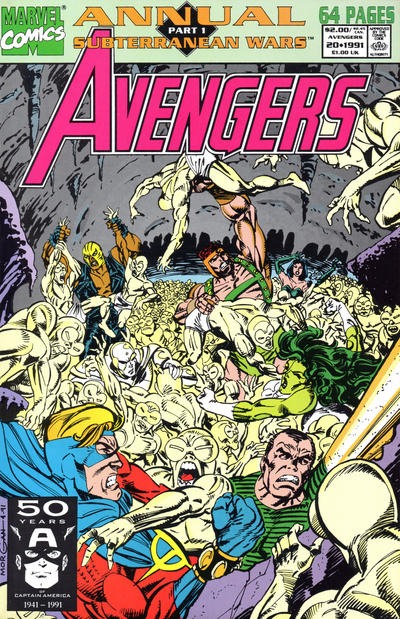 Cover for The Avengers Annual (Marvel, 1967 series) #20 [Direct Edition]