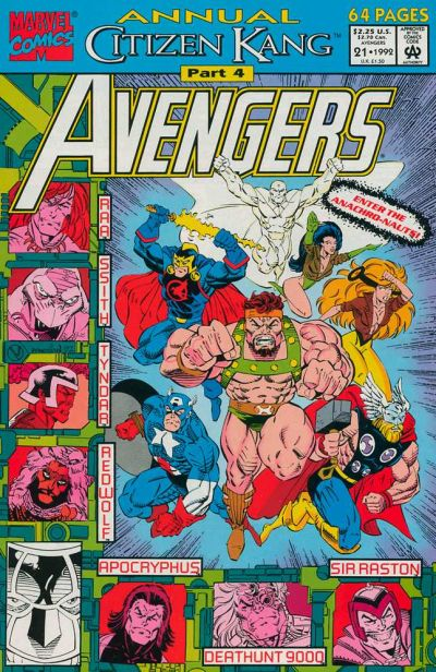 Cover for The Avengers Annual (Marvel, 1967 series) #21 [Direct Edition]