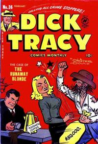 Cover Thumbnail for Dick Tracy (Harvey, 1950 series) #36
