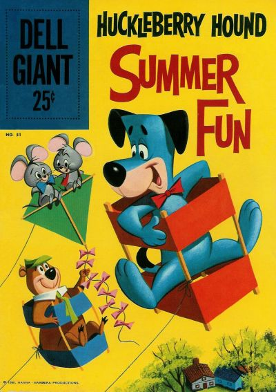 Cover for Dell Giant (Dell, 1959 series) #31 - Huckleberry Hound Summer Fun