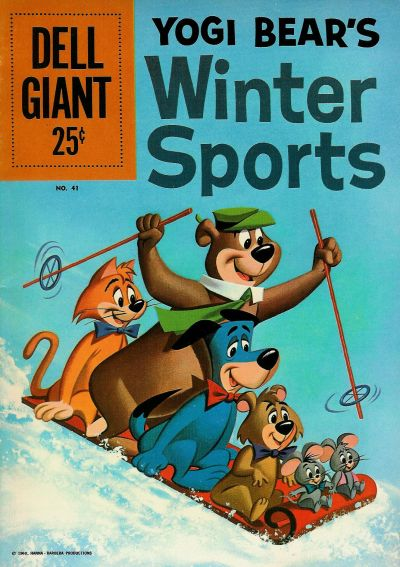 Cover for Dell Giant (Dell, 1959 series) #41 - Yogi Bear's Winter Sports