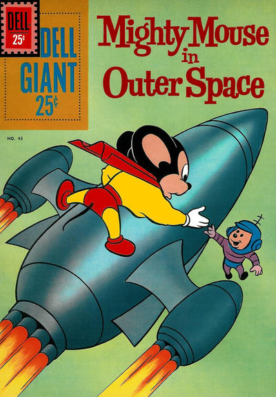 Cover for Dell Giant (Dell, 1959 series) #43 - Mighty Mouse in Outer Space