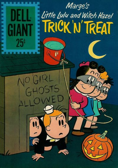 Cover for Dell Giant (Dell, 1959 series) #50 - Marge's Little Lulu and Witch Hazel Trick 'N' Treat