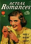 Cover for Actual Romances (Marvel, 1949 series) #1