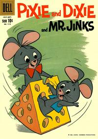 Cover Thumbnail for Four Color (Dell, 1942 series) #1112 - Pixie and Dixie and Mr. Jinks