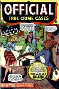 Cover Thumbnail for Official True Crime Cases Comics (Marvel, 1947 series) #25