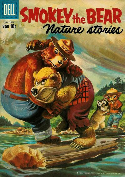 Cover for Four Color (Dell, 1942 series) #1016 - Smokey the Bear Nature Stories