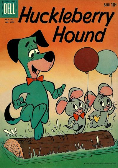 Cover for Four Color (Dell, 1942 series) #1050 - Huckleberry Hound