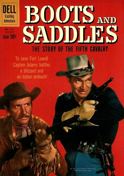 Cover for Four Color (Dell, 1942 series) #1116 - Boots and Saddles