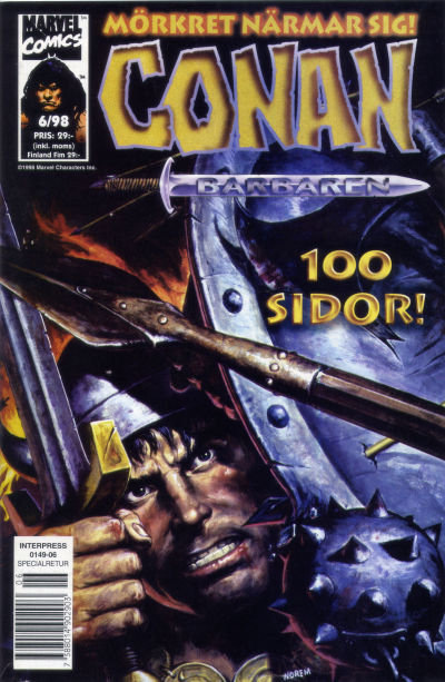 Cover for Conan (Egmont, 1997 series) #6/1998