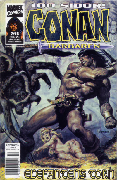 Cover for Conan (Egmont, 1997 series) #7/1998
