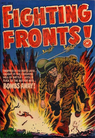 Cover for Fighting Fronts (Harvey, 1952 series) #4