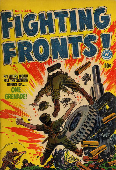 Cover for Fighting Fronts (Harvey, 1952 series) #5