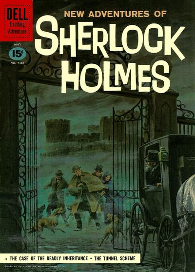Cover for Four Color (Dell, 1942 series) #1169 [New Adventures of Sherlock Holmes]