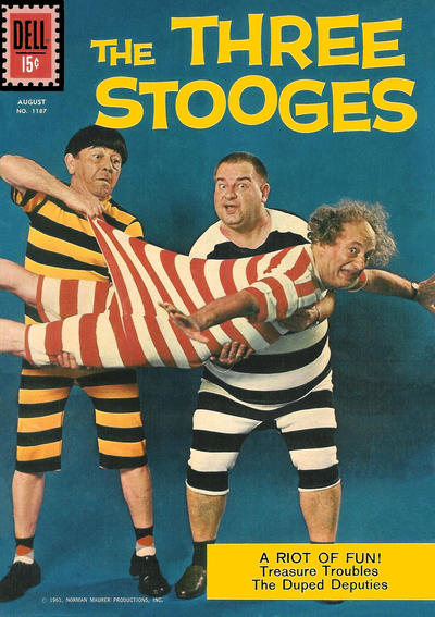 Cover for Four Color (Dell, 1942 series) #1187 - The Three Stooges