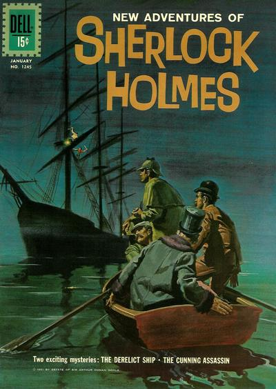 Cover for Four Color (Dell, 1942 series) #1245 - New Adventures of Sherlock Holmes