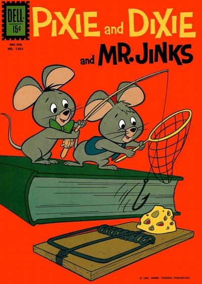 Cover for Four Color (Dell, 1942 series) #1264 - Pixie and Dixie and Mr. Jinks