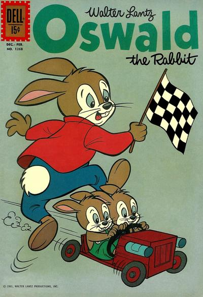 Cover for Four Color (Dell, 1942 series) #1268 - Walter Lantz Oswald the Rabbit
