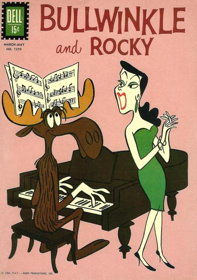 Cover for Four Color (Dell, 1942 series) #1270 - Bullwinkle and Rocky