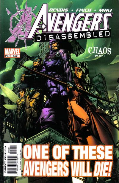Cover for Avengers (Marvel, 1998 series) #502 [Direct Edition]