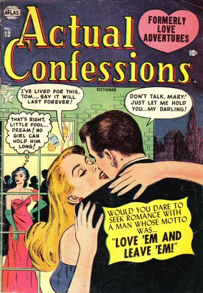 Cover for Actual Confessions (Marvel, 1952 series) #13
