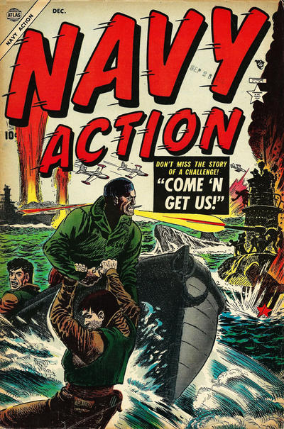 Cover for Navy Action (Marvel, 1954 series) #3