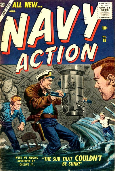 Cover for Navy Action (Marvel, 1957 series) #18