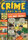 Cover for Crime Can't Win (Marvel, 1950 series) #4