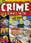 Cover for Crime Can't Win (Marvel, 1950 series) #5