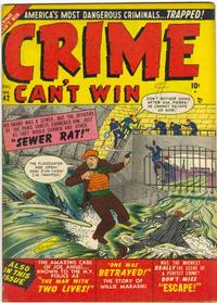 Cover Thumbnail for Crime Can't Win (Marvel, 1950 series) #42 [2]