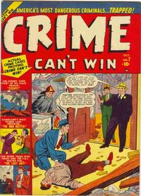 Cover Thumbnail for Crime Can't Win (Marvel, 1950 series) #7