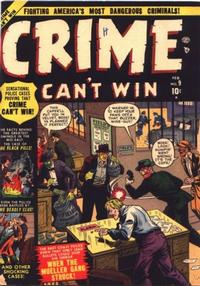 Cover Thumbnail for Crime Can't Win (Marvel, 1950 series) #9