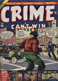 Cover Thumbnail for Crime Can't Win (Marvel, 1950 series) #11