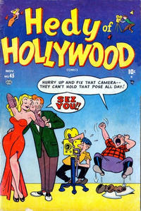 Cover Thumbnail for Hedy of Hollywood Comics (Marvel, 1950 series) #45