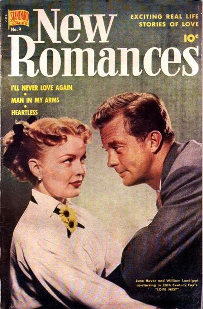 Cover for New Romances (Pines, 1951 series) #9