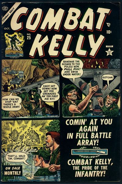 Cover for Combat Kelly (Marvel, 1951 series) #25