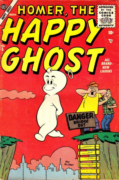 Cover for Homer, the Happy Ghost (Marvel, 1955 series) #5